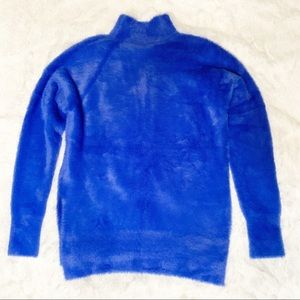 FRENCH CONNECTION FAUX FUR SWEATER ROYAL BLUE NWT NWT